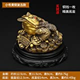 all cash register - & Office Décor Sculpture Feng Shui Ornament Mascot Brass Money Frog Statue with Removable Lucky Ancient Coins, Cute three Legged Toad Figurine for Attract Wealth Money Luck and Business Christmas pres