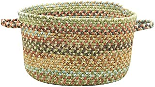 "product image for Capel Rugs Kill Devil Hill Braided Basket, 12"" x 7 1/2"", Dusty Multicolor"