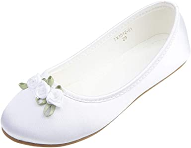 NEW INFANT GIRLS CASUAL SCHOOL SHOES WEDDING PARTY FORMAL BALLERINA SHOES UK SZ