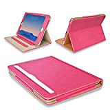 "MOFRED® Pink & Tan Apple iPad 9.7"" (Launched 2017) Leather Case-MOFRED®- Executive Multi Function Leather Standby Case for Apple New iPad 9.7"" (2017) with Built-in magnet for Sleep & Awake Feature -- Independently Voted by ""The Daily Telegraph"" as #1 iPad Case! (Pink & Tan)"