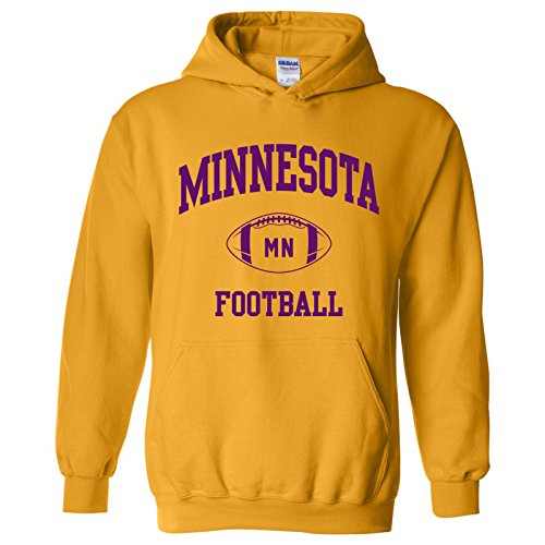 Minnesota Classic Football Arch American Football Team Sports Hoodie - Small - Gold]()