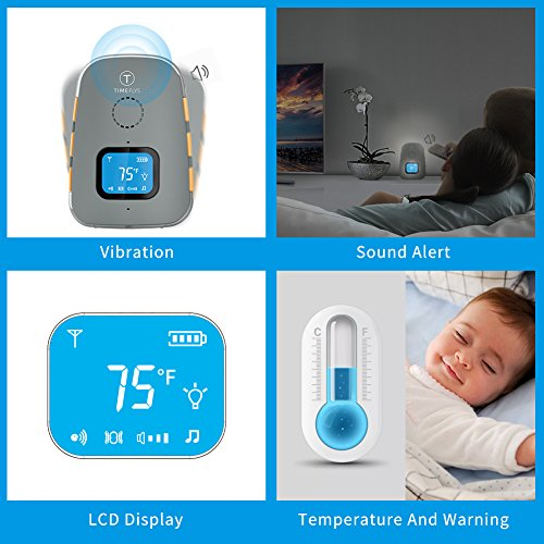 TimeFlys Audio Baby Monitor Crown Vibration Two Way Talk LCD ...