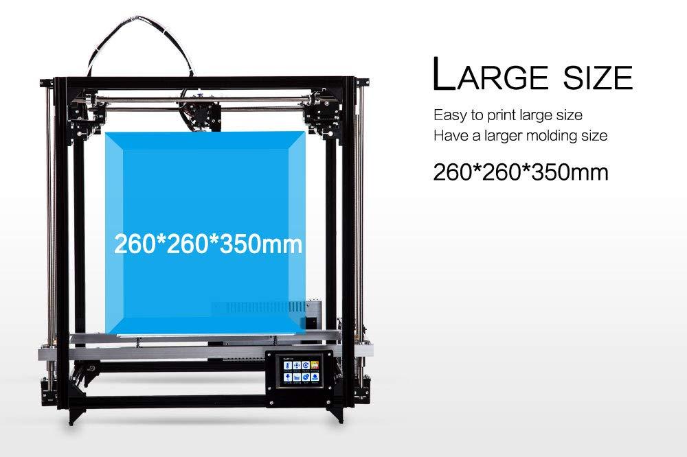 flsun 3d printer Square DIY Kit Touch Screen Auto Nivelación ...