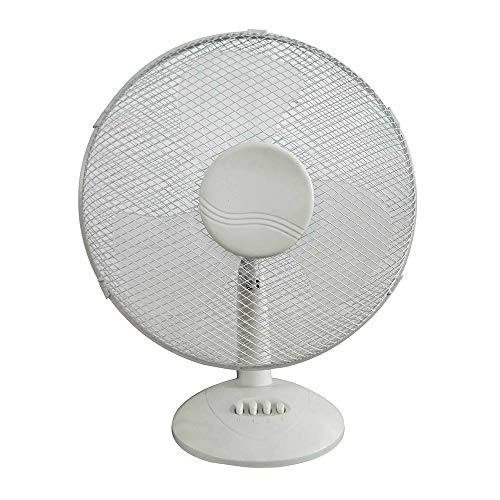 SuperUS Electrical 3-Speed/2-Speed Oscillating Desk Top Fan, 12-Inch/9-Inch/16-Inch, White