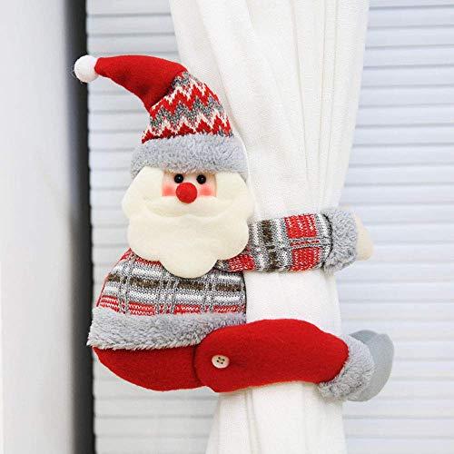 Warckon Christmas Curtain Buckle...