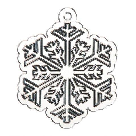 Bulk Buy Suncatcher Snowflake 12 Pack