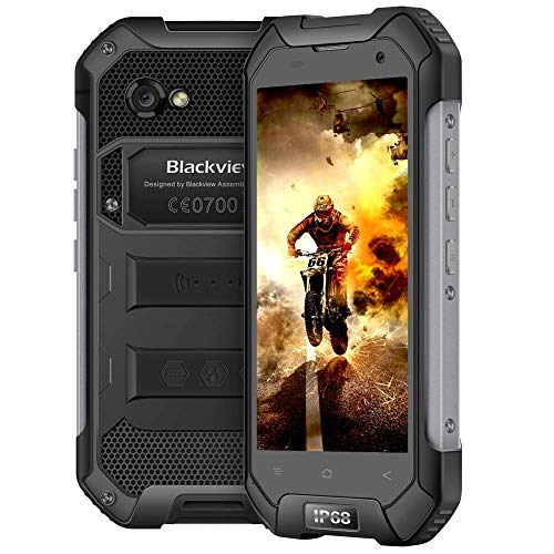 Rugged Cell Phones Unlocked,Blackview BV6000S Unlocked Smartphones IP68 Waterproof,Android 7.0 4G Dual SIM,4.7 Inch Quad Core 2GB+16GB,4500mAh Battery,[MIL-STD 810G],NFC,for AT&T/T-Mobile,Black