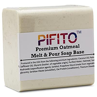 Pifito Premium Oatmeal Melt and Pour Soap Base - Natural Vegetable Glycerin Soap Base - Excellent Hand Soap Making Supplies