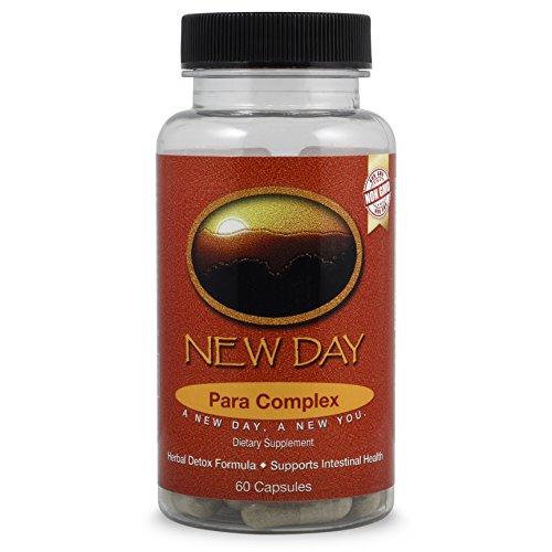 New Day Para Complex, 10 Day Cleanse, 60 Cap, NON-GMO Intestinal Health - Herb Betony Wood Powder