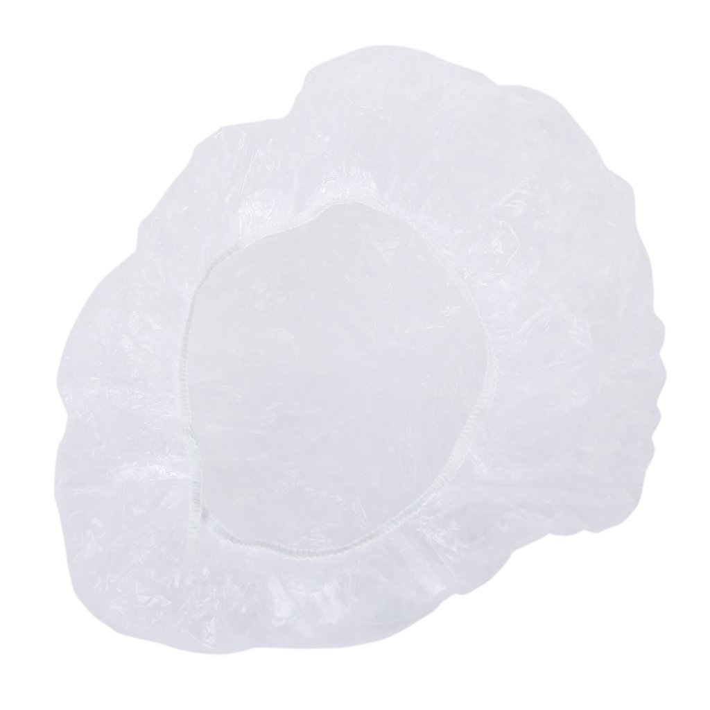 Cuffia per doccia in plastica usa e getta – confezione da 100. ANKKO