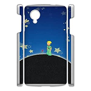 Customize Cell Phone Case Google Nexus 5 Case Cover White Cartoon The Little Prince 12QW4691302