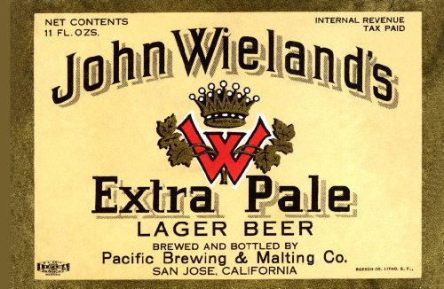 John Wieland's Extra Pale Lager Beer 36