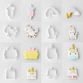 Molde de plástico para galletas, diseño de unicornio A-01: Amazon.es: Hogar