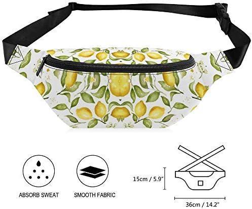 レモンブロッサム ウエストバッグ ショルダーバッグチェストバッグ ヒップバッグ 多機能 防水 軽量 スポーツアウトドアクロスボディバッグユニセックスピクニック小旅行