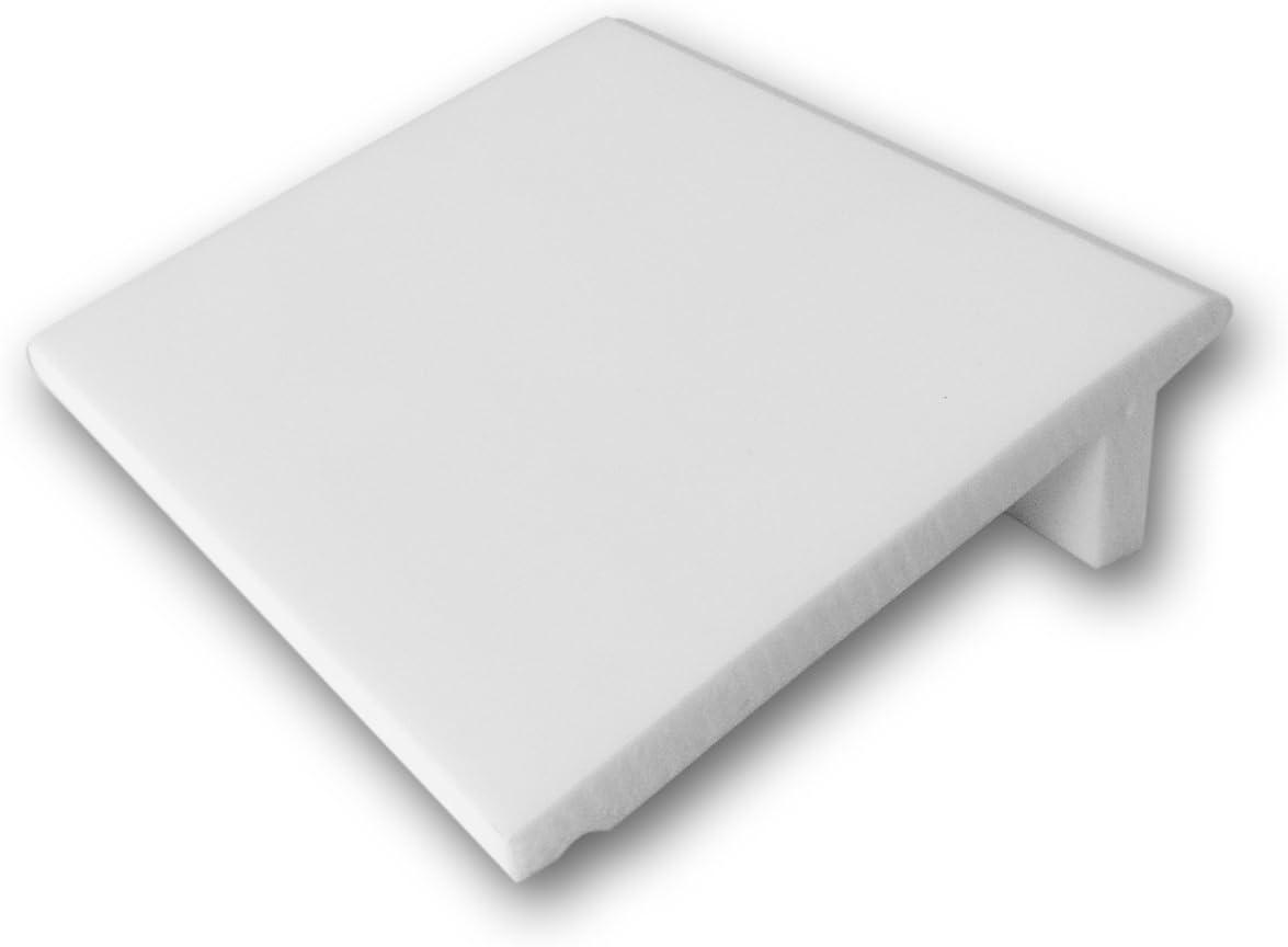 """Orac Decor SX179 Baseboard Molding Primed Polyurethane 4"""" Sample H: 3-7/8"""" Proj: 1-1/8"""" Face: 3-7/8"""""""