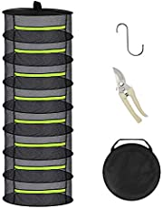 Herb Drying Rack,Plant Seed Drying Mesh,Comes with a Zipper and Hook,Used for Hanging Plants and Seed Drying Nets in Outdoor Courtyards