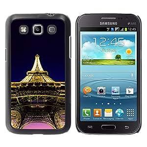 TopCaseStore / la caja del caucho duro de la cubierta de protección de la piel - Architecture Eiffel Tower Paris - Samsung Galaxy Win I8550 I8552 Grand Quattro