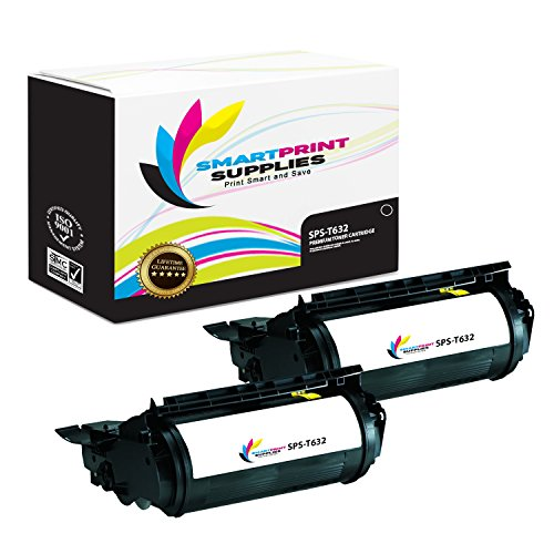 Smart Print Supplies Compatible 12A7365 Black High Yield Toner Cartridge Replacement for Lexmark Optra T630 T632 T634 Printers (32,000 Pages) - 2 Pack