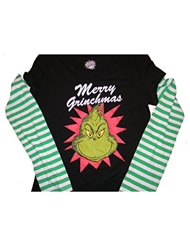 Juniors How the Grinch Stole Christmas Merry Grinchmas T-Shirt XL 15-17