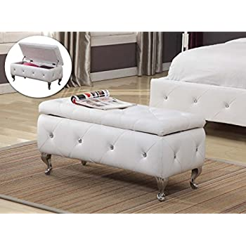 kings brand furniture tufted design upholstered storage bench ottoman white plans uk window seat