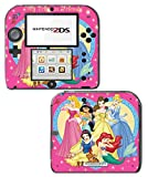 Princess Friends Pink Cinderella Snow White Ariel Jasmine Belle Game Vinyl Decal Skin Sticker Cover for Nintendo 2DS System