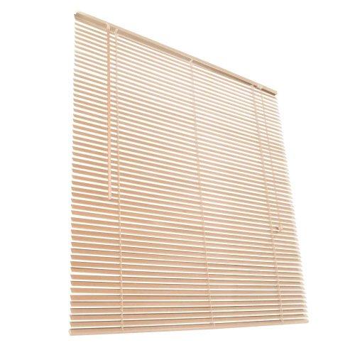 Jago Jalousie Jalousette Plissee Echtholz Holzjalousie für Decke, Wand & Fenster inkl. Montage-Set mit Größen- und Farbwahl