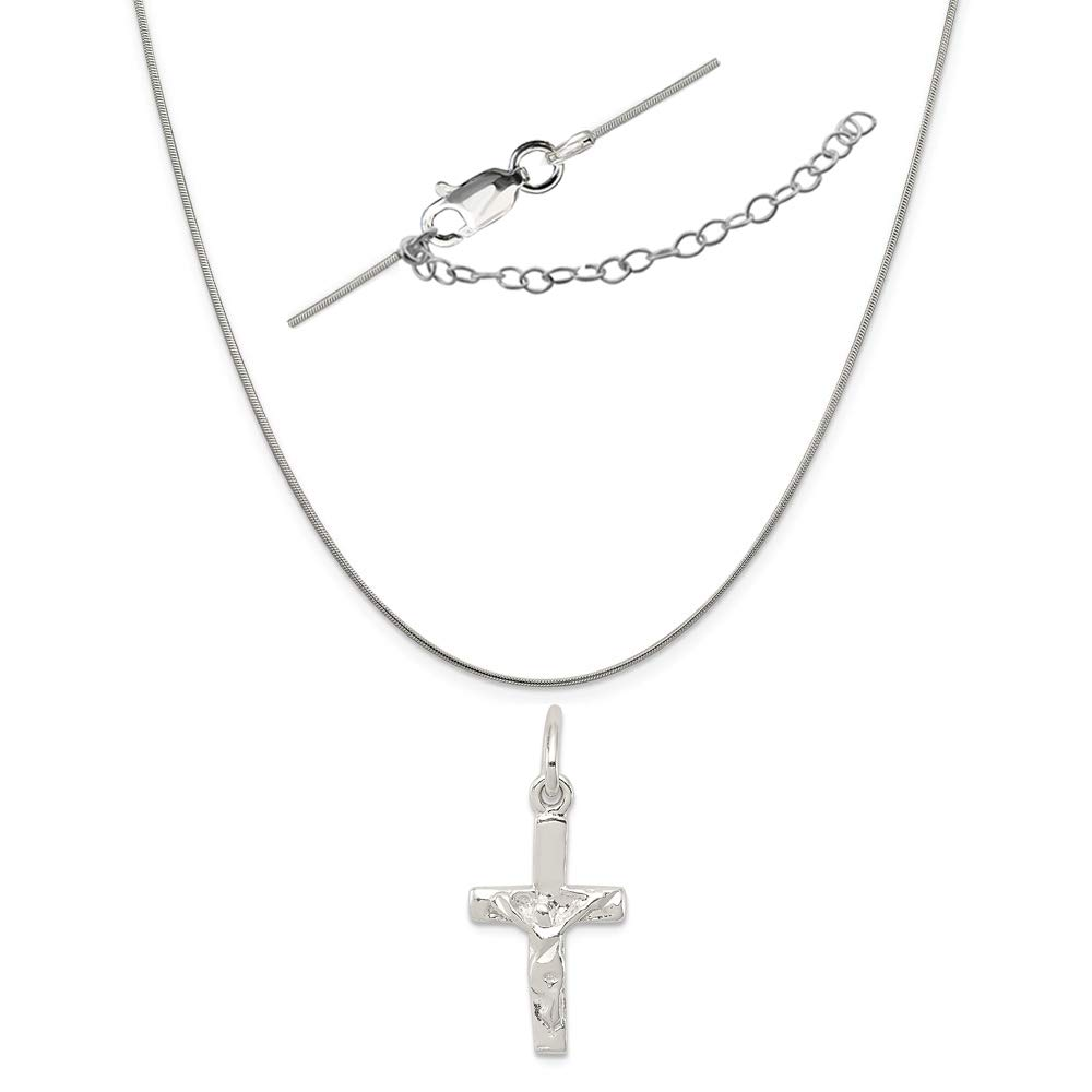 LavaFashion Sterling Silver Small Charm Necklace 18