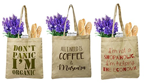 Earthwise Organic Cotton Reusable Grocery Bag Shopping Totes...