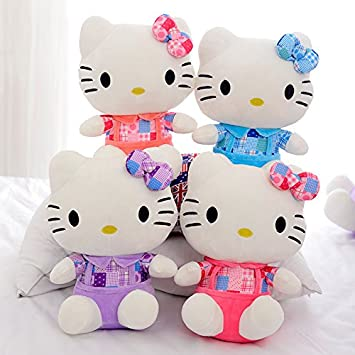 Retail New KT Cat Hello Kitty Stuff Plush 25CM Toys Big Kawaii Hello Kitty Doll Peluche
