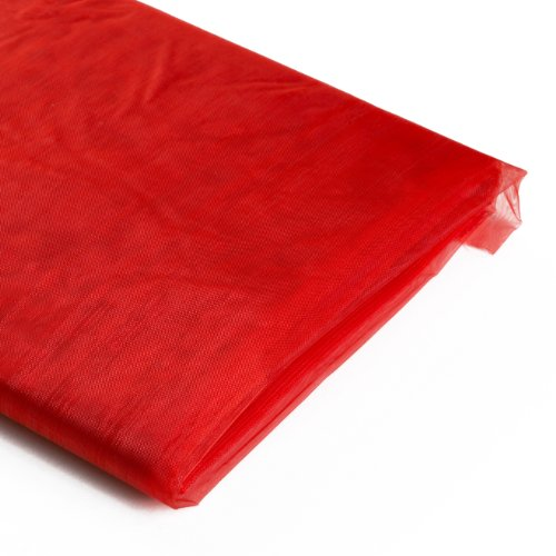 Koyal Wholesale 10-Yard Sheer Organza Fabric Bolt, 58-Inch, Red
