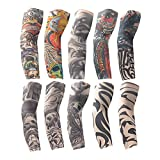 Best Care Sunscreens - 10 Pcs Temporary Tattoo Sleeves Arm Sunscreen Sleeves Review