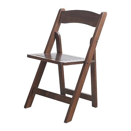 Chair QL sillones Plegables Plegable Silla de Madera Maciza ...