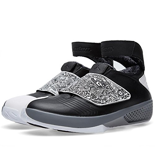 Nike Mens Air Jordan XX Retro Playoffs Black White Cool Grey Laser - 20 Black Retro