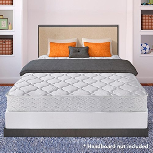 Best Price Mattress 8' Pocket Coil Spring Mattress & 7.5' New Steel Box Spring/Mattress Foundation Set, Queen
