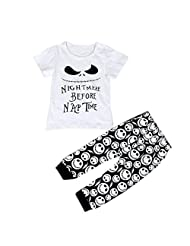Susenstone 1Set Infant Baby Boys Cartoon Print T-shirt Tops+Pants Outfits Clothes