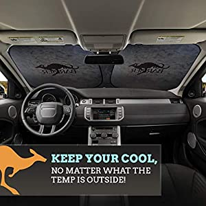 Windshield Sun Shade for Car and Truck – Sunshade Made for the Australian Outback – Heavy Duty Sun Shield Protector for…