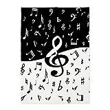 CafePress - Stylish random musical notes 5'x7'Area Rug - Decorative Area Rug, 5'x7' Throw Rug