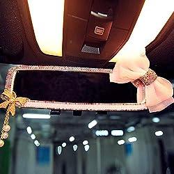 Shining Bling Diamond Butterfly Rearview Mirror