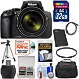 Nikon Coolpix P900 Wi-Fi 83x Zoom Digital Camera 32GB Card + Battery + Case + Tripod + Filter + HDMI Cable + Kit