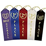 chili cookoff medals - Ideal Award Ribbon Set – 1 Best Overall, 4 Each 1st - 2nd - 3rd Place, & 1 Last Place