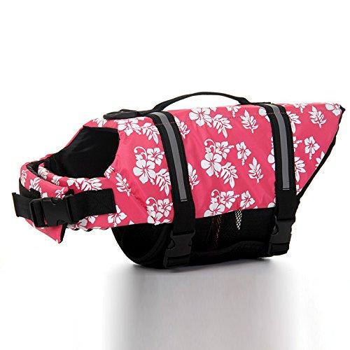 Zehui Puppy Preserver Swimwear Unisex Pet Safety Vest Dog Life Jacket Pink XL