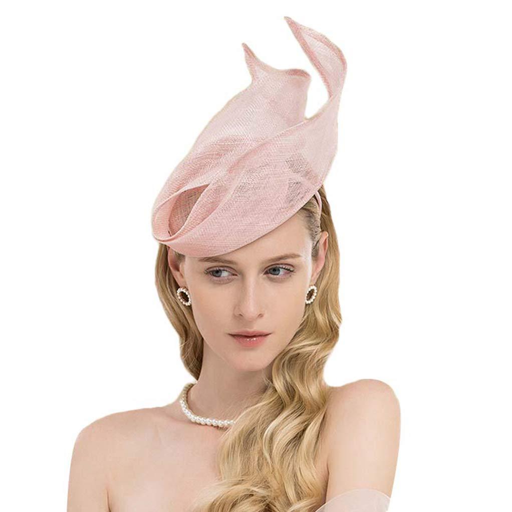 Fascinator Pink Formal Ladies Hat for Wedding Women Elegant Kentucky Derby Hats