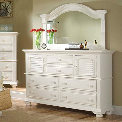 (American Woodcrafters Cottage Traditions 6 Drawer High Dresser - Eggshell White)