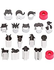 Hapdoo Vegetable Animal Cutter Shapes Set (16 Piece) – Mini Cookie Cutters, Vegetable Animal Shape Cutters for Kids