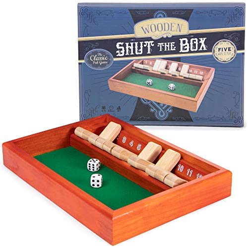 Brybelly Shut The Box Wager Game (The Shut Rules Game Dice Box)