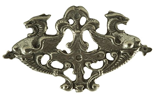 Double Griffin Pewter Pin (Revolutionary War Reenactment Costumes)