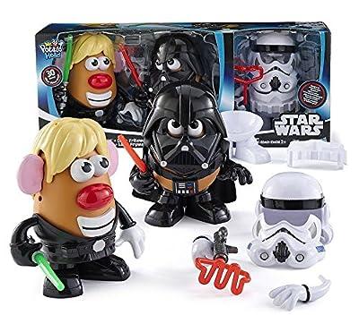 Stars Wars Mr. Potato Head Room Decor 30 Piece Set Luke Frywalker Darth Tater & Spudtrooper Costume