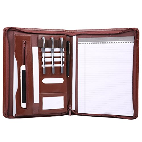 Leathario Padfolio Presentation Portfolio Brown A4 4L
