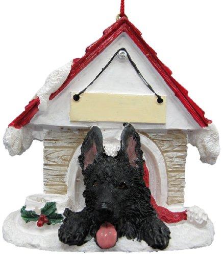 German Shepherd, Black Ornament A Great Gift For German Shepherd, Black Owners Hand Painted and Easily Personalized