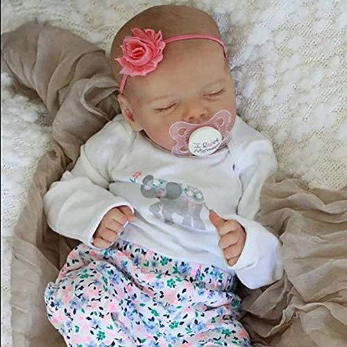 Reborn baby pop pasgeboren pop handgemaakte baby 18 inch baden speelgoed zachte siliconen slapende schattige…